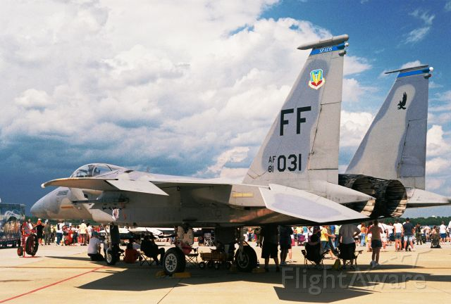 McDonnell Douglas F-15 Eagle (81-0031) - USAF F-15C, 81-031, from Langley AFB seen at Barksdale AFB airshow in 2005.