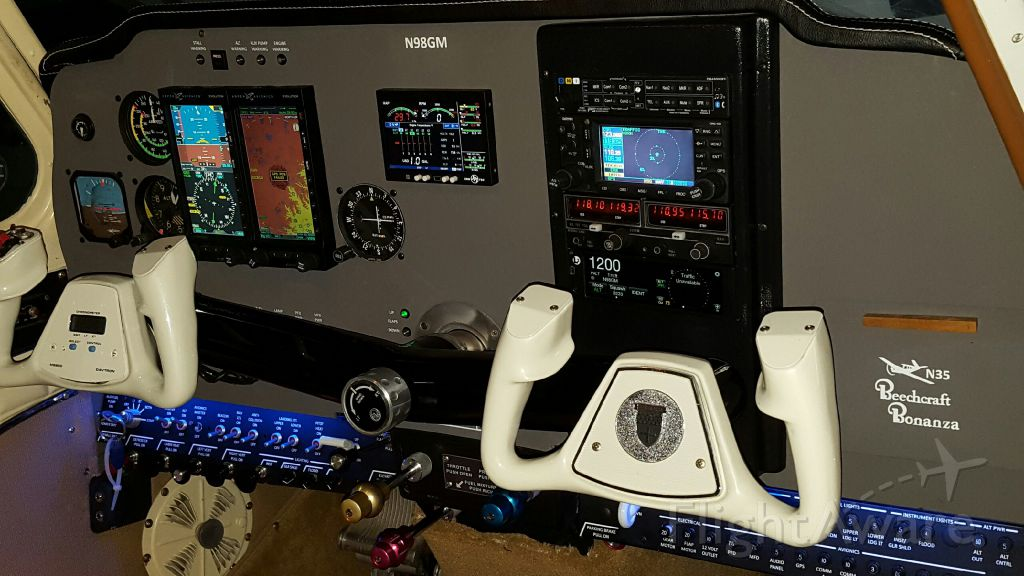 Beechcraft 35 Bonanza (N98GM) - Panel upgrade complete!