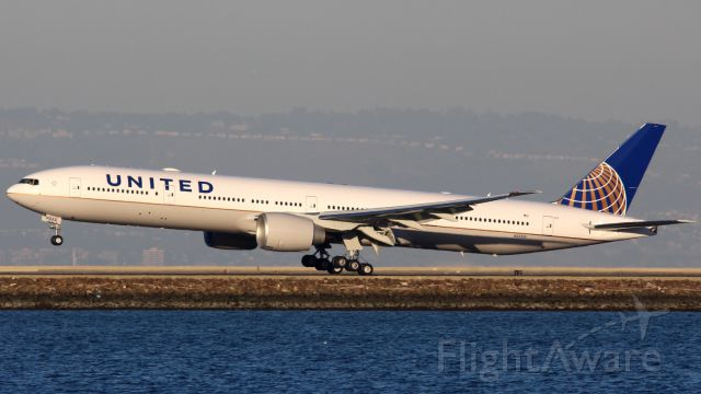 BOEING 777-300ER (N2332U) - N2332U, the second 77W for United, on her delivery flight to SFO