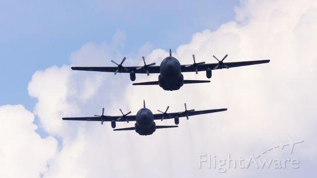 Lockheed C-130 Hercules — - Flight of two C 130 Hercules during celebrations of the Polish Army.