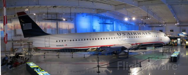"""Airbus A320 (N106US) - Flight 1549 """" Miracle on the Hudson"""" at the Carolinas Aviation Museum."""