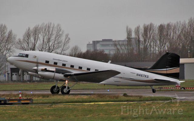 Douglas DC-3 (turbine) (N467KS) - priority air charter dc-3tp n467ks parking at shannon 1/4/15.