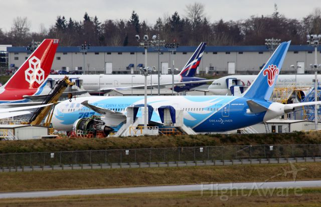 Boeing 787-8 (B-2725) - China Southern Airlines B-2725 on the Boeing Everett flightline February 22, 2013.