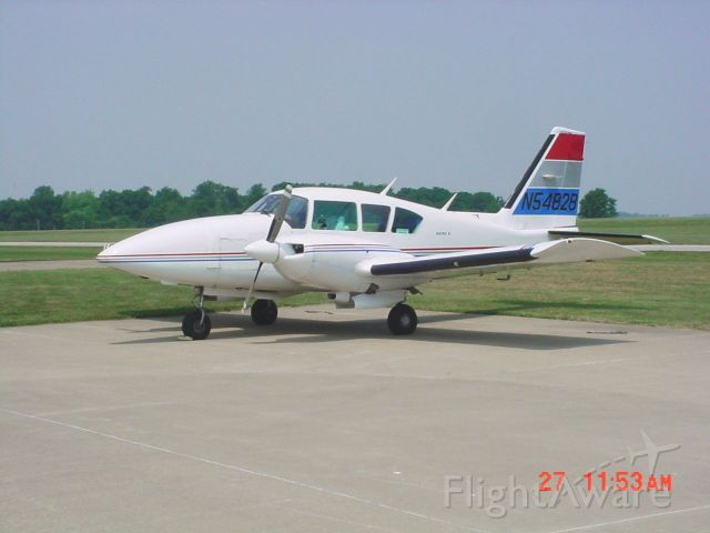 Piper Aztec (N54828) - Parked on ramp on 5/27/10