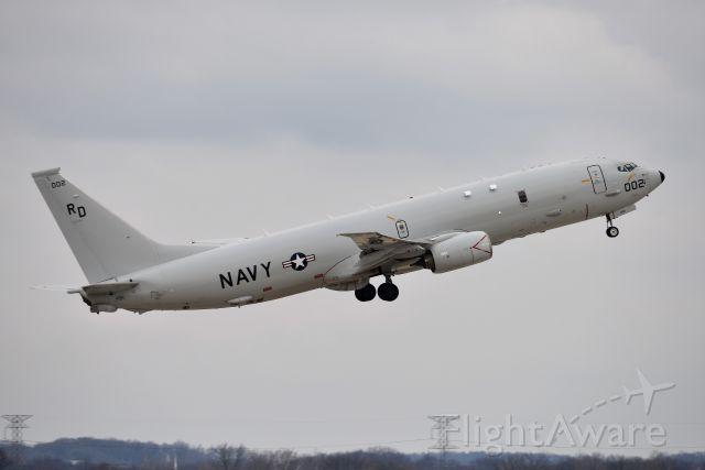 Boeing P-8 Poseidon (002) - Departing 5-L on 12-07-20