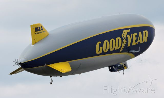 """Unknown/Generic Airship (N2A) - Good Year's 2016 Zeppelin Dirigible """"Wingfoot Two"""" with another group of people, fall 2019."""