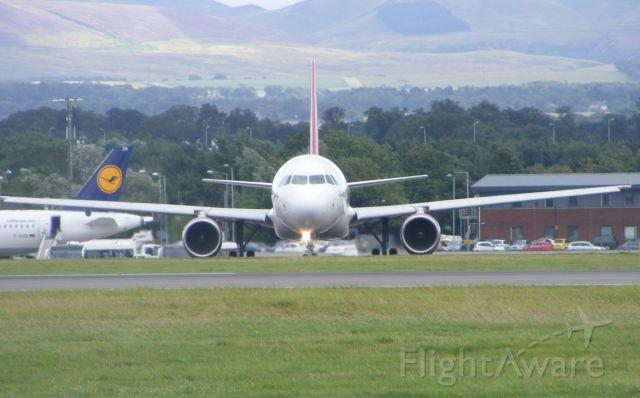Airbus A320 (EI-EZW) - Taken from Almondbank on 17th August 2014.