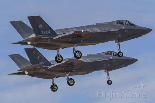 Lockheed F-35C (MM7335) - Italian AF F-35A doing some pattern work with his Instructor.