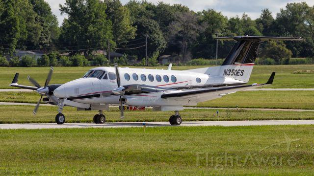 Beechcraft Super King Air 350 (N350ES) - A King Air 350 taxi's by at KVPZ.