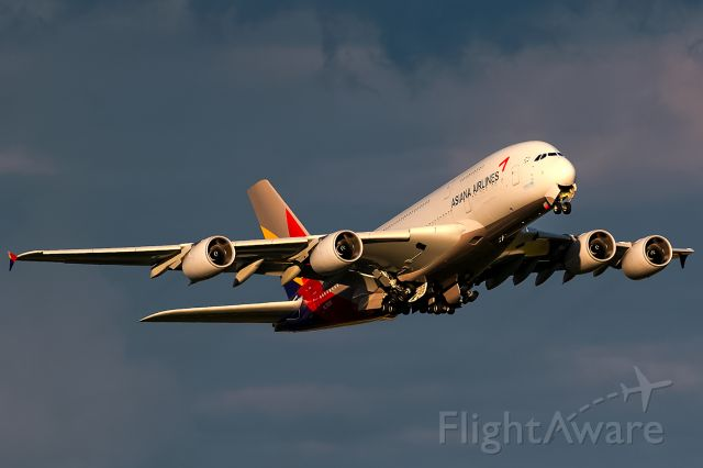 Airbus A380-800 (HL7635) - departure after heavy rain!!