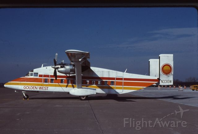 IAI 1124 Westwind (N331GW) - Golden West 26 Nov 84  I flew on this aircraft on GQ831 from ONT to LAX