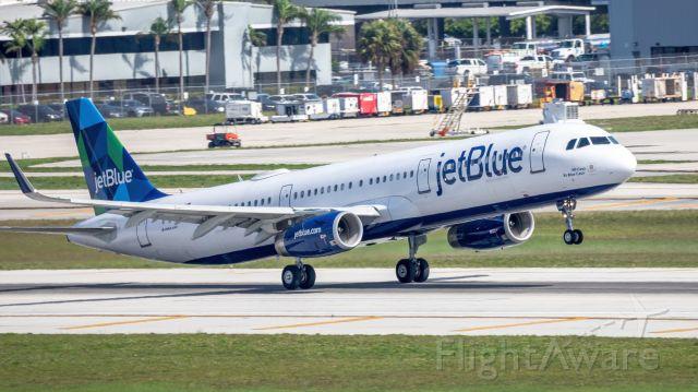 Airbus A321 (N948JB) - jetBlue takeoff RWY 10L