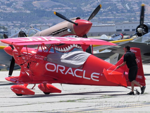 Experimental 100kts-200kts (N260HP) - Sean Tuckers Oracle Challenger III preparing for the Show - Chino Air Show 2018
