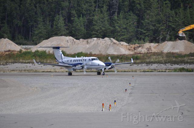 Beechcraft Super King Air 350 (N5XM) - À son arrivée à CYEY en provenance de CYTZ