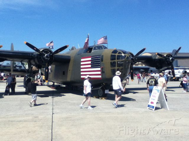"Consolidated B-24 Liberator (N24927) - Consolidated B-24 Liberator - ""Diamond Lil"" at  Andrews AFB (ADW) Air Show, May 2012"