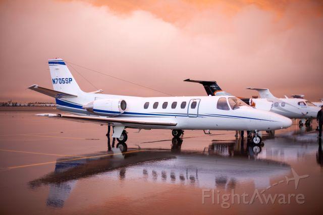 Cessna Citation II (N705SP) - Raining in the desert.