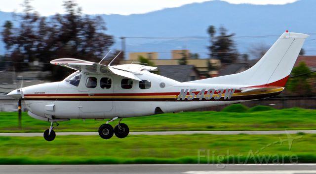 Cessna P210 Pressurized Centurion (N5493W) - Pressurized Cessna 210 landing at Reid Hillview.