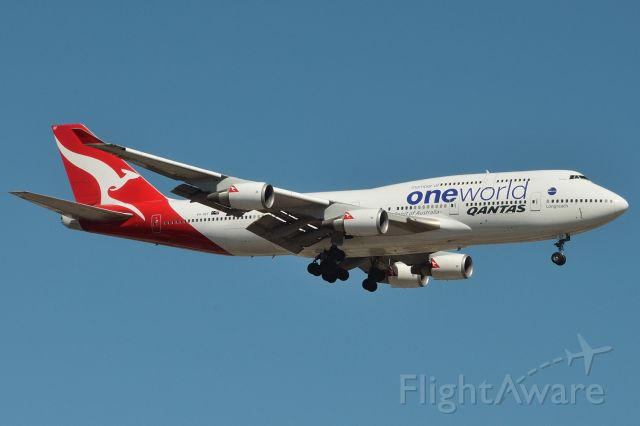 Boeing 747-400 (VH-OEF) - On final for runway 23, Adelaide, South Australia, January 19, 2013.  Just my tip of the hat to all Qantas' queens of the skies in salute to their glorious service which ended with a final flight Monday July 13, 2020.