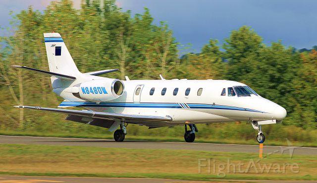 Cessna Citation Excel/XLS (N848DM) - Landing runway 20