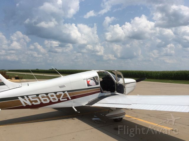 Piper Cherokee (N56821) - Surrounded by fields of corn on our way back from Oshkosh.