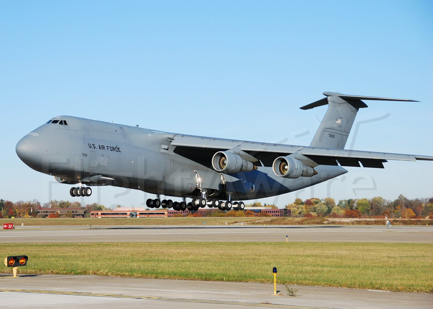 Lockheed C-5 Galaxy — - Check out those nose gear doors.