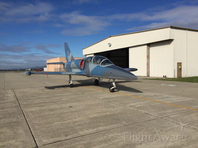 Aero L-39 Albatros (N39SR) - N39SR on the ramp in Hollister, CA - Nov 30th, 2016