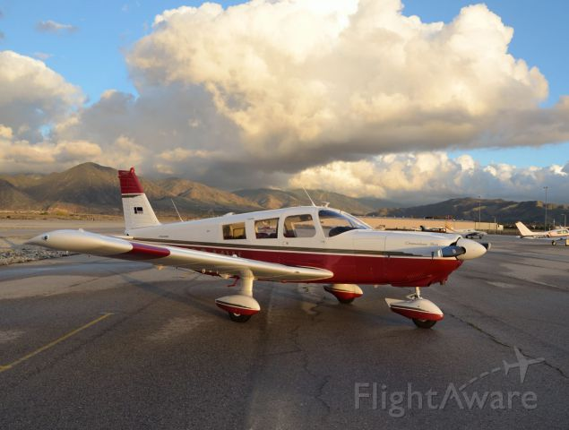 Piper Saratoga (N3841W) - Before a storm at KREI.