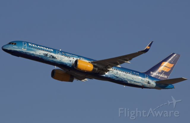 """Boeing 757-200 (TF-FIR) - Icelandair's gorgeous 80 Years of Aviation """"Vatnajökull"""" departing DFW on 11/19/2018 (please view in """"full"""" for highest image quality)"""