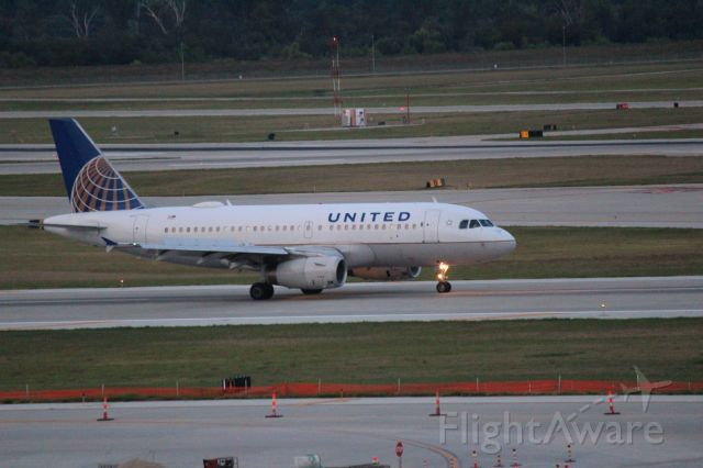 Airbus A319 (N851UA) - flight from DEN taxiing in