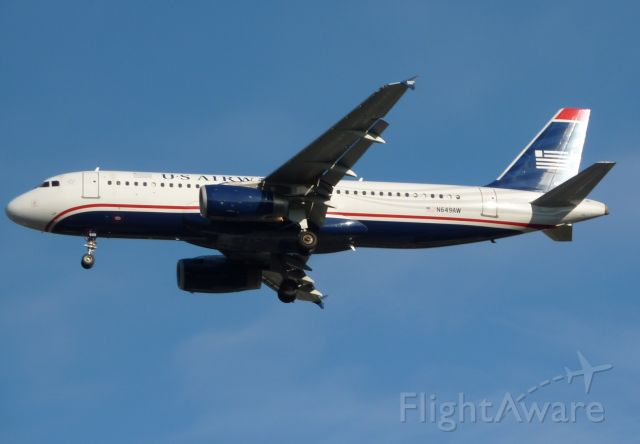 Airbus A320 (N649AW) - Short Final 34L