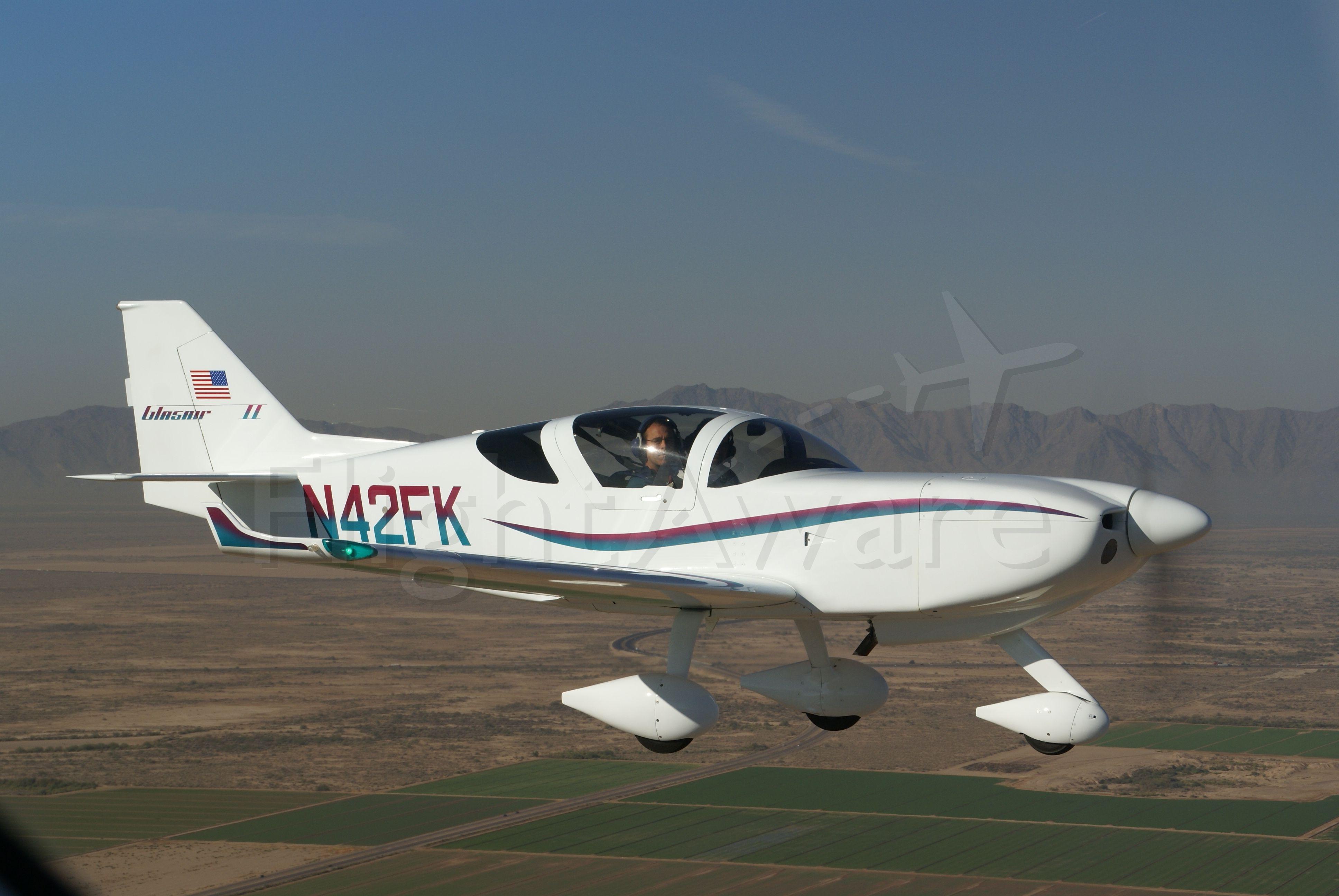 N42FK — - Glasair II over Maricopa, AZ
