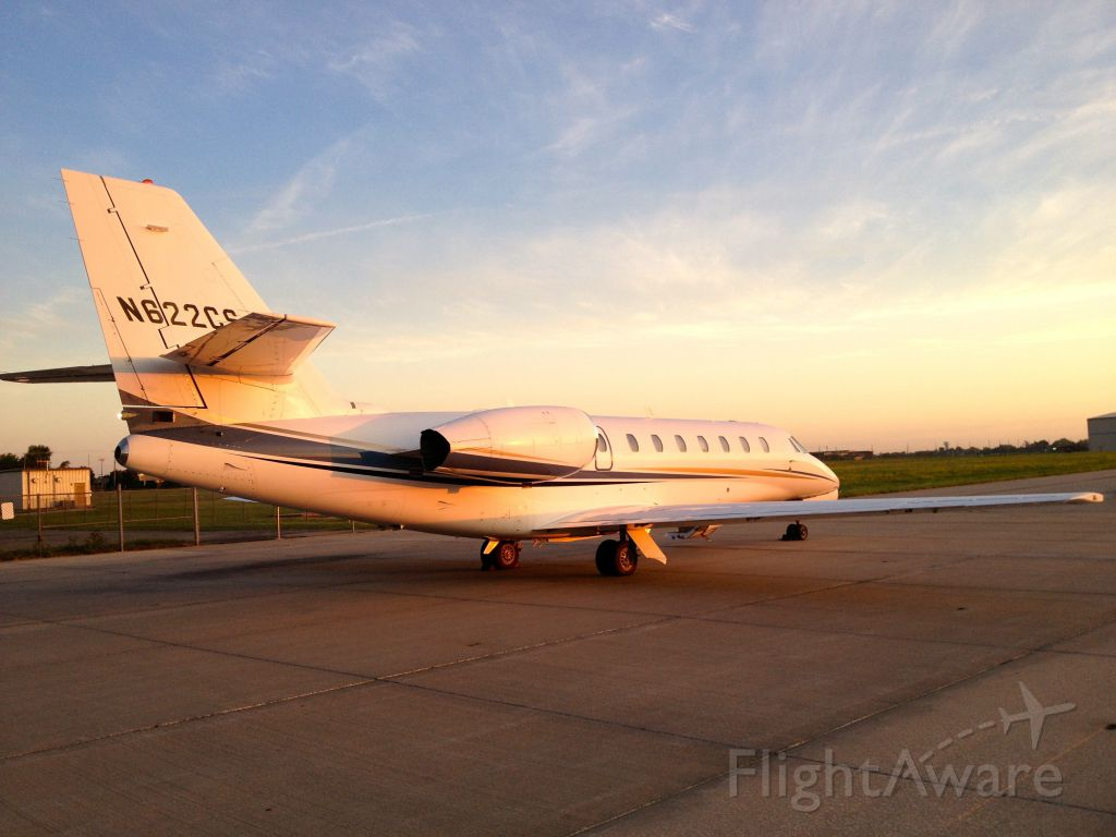 Cessna Citation Sovereign (N622CS) - Early morning departure from Wichita, KS.