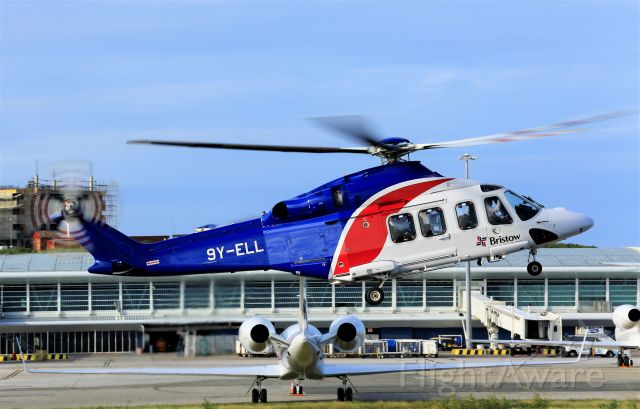 9Y-ELL — - Bristow chopper coming to St Maarten for a fuel stop!!