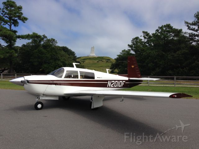 Mooney M-20 (N201DF) - Photo-op at Kitty Hawk--Wright Brothers Monument in background