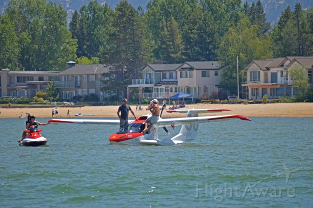 ICON A5 (N203BA) - A5 just off the Tahoe Keys, July 4th weekend 2016.   Very exciting to see in my back yard.