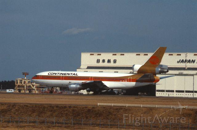 McDonnell Douglas DC-10 (PK-GIB) - Departure at Narita Intl Airport Rwy34 on 1987/01/25