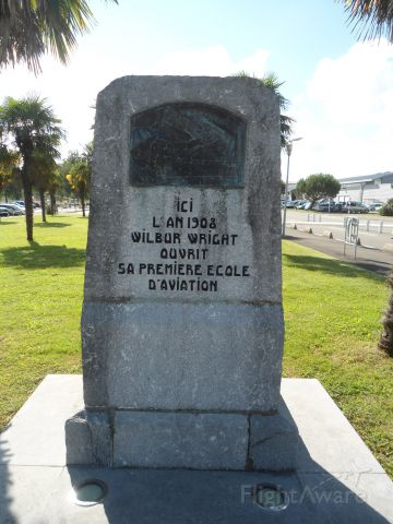 — — - The location where the Wright Brothers opened the first aviation school, in Pau, France.