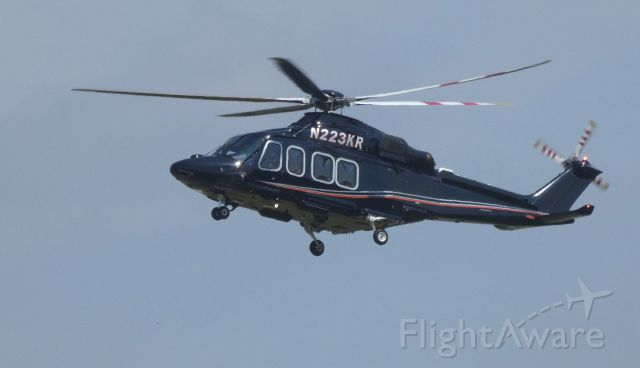 BELL-AGUSTA AB-139 (N223KR) - Arriving at the city ramp is this 2013 AgustaWestland AW139 Rotorcraft in the Summer of 2019.