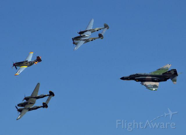 Lockheed P-38 Lightning — - Heritage Flight Chino 2012