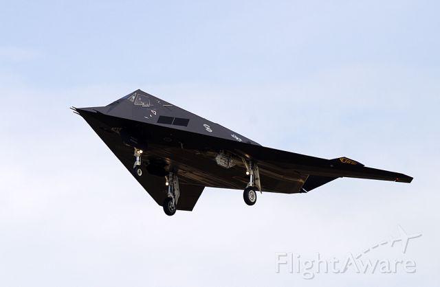 Lockheed Nighthawk — - A rare visitor ... F-117A Nighthawk (Stealth fighter)