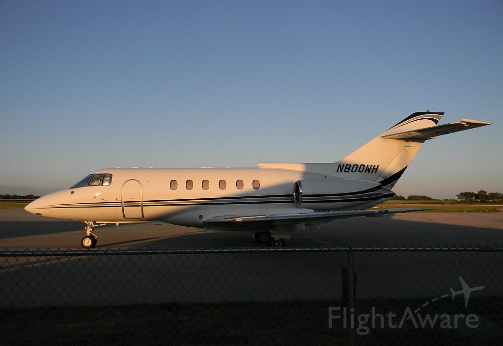 Raytheon Hawker 800 (N800WH) - Shot in the evening of 11 July 2012 BAe 125-800A, s/n 258080, by Me....