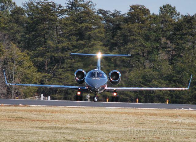 Learjet 31 (N3DE) - CHAMPION AIR LLC moving into position 28 at KSVH - 2/18/10