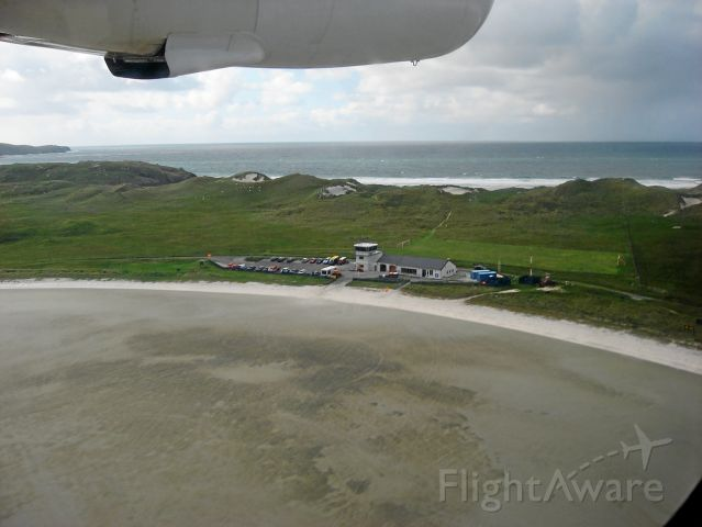 De Havilland Canada Twin Otter (G-BVVK) - Airport terminal at Barra Scotland. Runways are all sand and subject to the tides!. All VFR operation. Has been in service 1936
