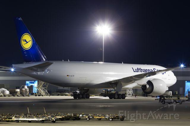 BOEING 777-200LR (D-ALFB) - Jambo Kenya's first commercial flight to Houston via Toronto!
