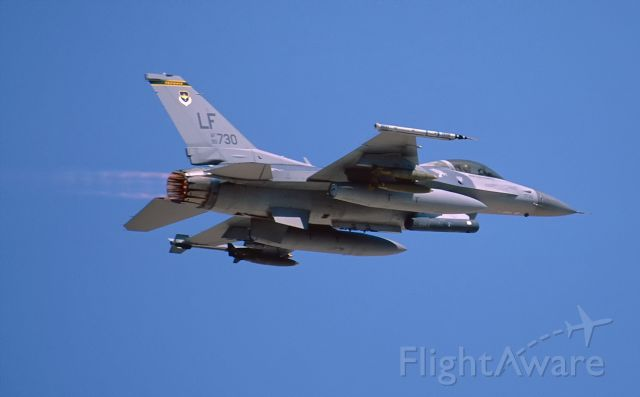 90-0730 — - Take off at Nellis AFB.