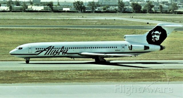BOEING 727-200 (N291AS) - KSJC - Mid 1990's from atop the parking structure - one of the many 727s that flew SEA-SJC for years, shown arriving and on taxi to Terminal C. This jet delivered new to Alaska Airlines 3/2/1979 and sold to American Trans Air about Nov 1993. My 1st 727 flight was SJC-SEA in 1973 - after HS graduation on Continental 727 and my 2nd 727 flight was on an Alaska 727 SJC-SEA in Sept 1986.