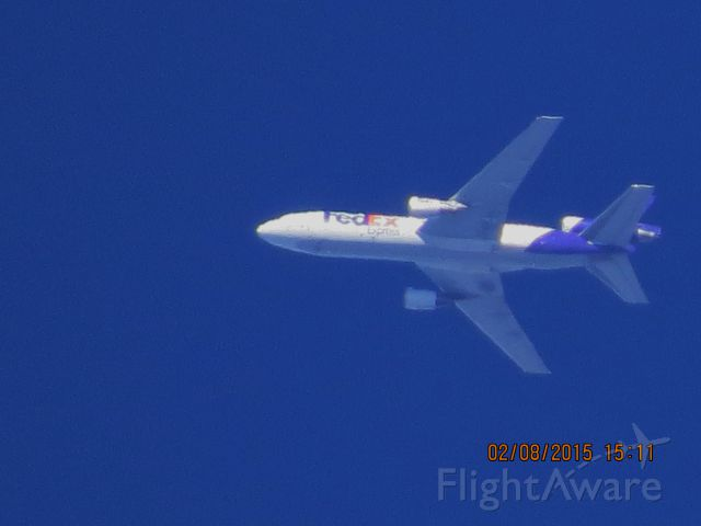 McDonnell Douglas DC-10 (N394FE) - FedEx flight 507 from MEM to SEA over Southeastern Kansas at 32,000 feet.
