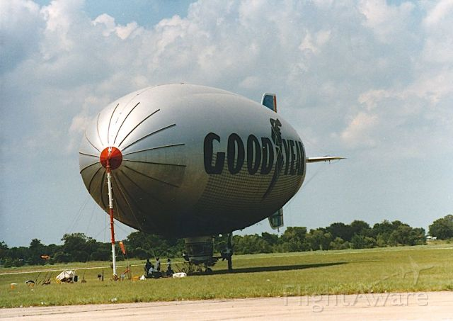 — — - Goodyear Blimp at a CAF Air Show at TSTI Waco TX. KCNW