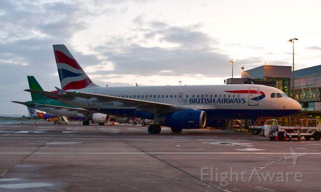 Airbus A319 (G-EUOD) - British Airways Airbus A319-131 G-EUOD in Belfast City Airport