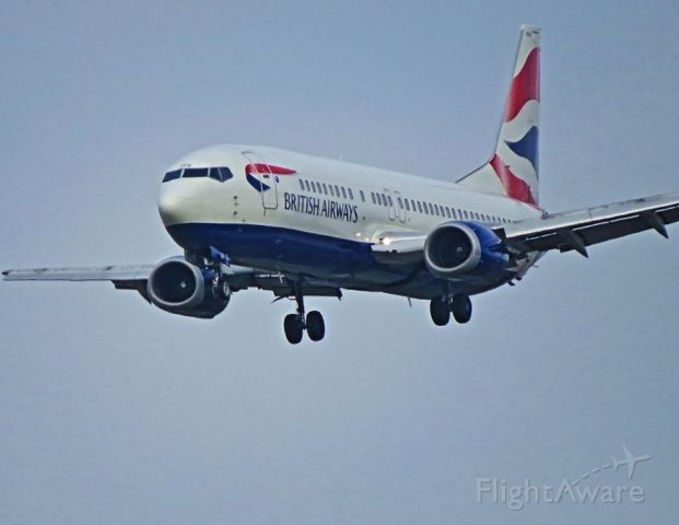 BOEING 737-400 (G-DOCH) - Retirement flight to VCV